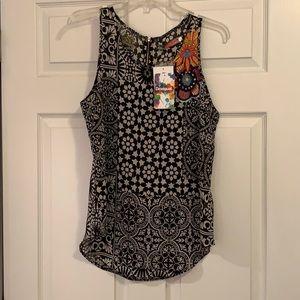 Great deal Desigual lightweight sleeveless blouse